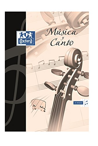 Oxford 100105244 - Pack de 20 cuadernos de música y canto grapados y 8 pentagramas interlineados, A4