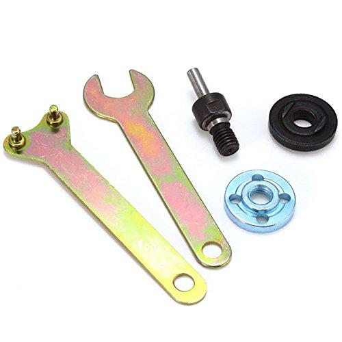 Ils - 5 stuks 6 mm verbindingsstang en drukplaat met sleutel voor variabele haakse slijper