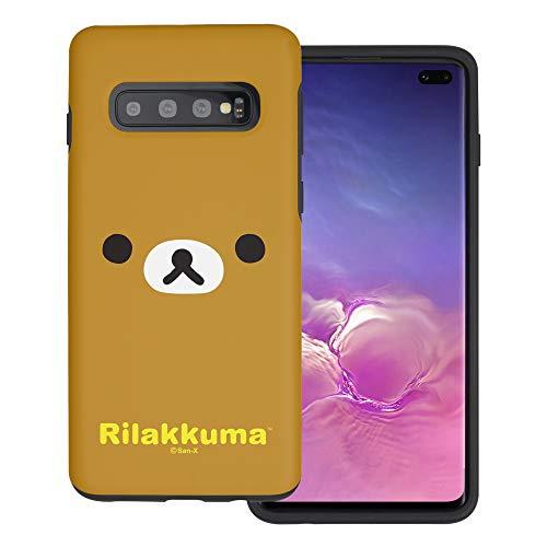 Compatible with Galaxy S10 Case (6.1inch) Rilakkuma Layered Hybrid [TPU + PC] Bumper Cover - Face Rilakkuma