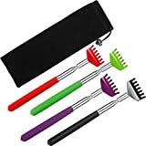 4 Pack Portable Extendable Back Scratcher - Backscratchers for Adults Extendable - Metal Stainless Steel Telescoping Massage Tool with Beautiful Gift Packaging