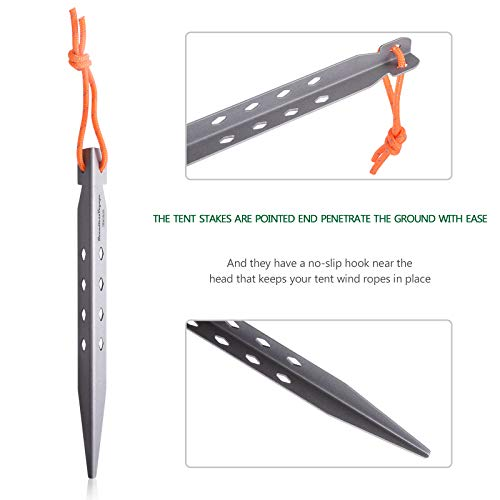 iBasingo 8pcs/lot Titanium Alloy Pegs 16.5CM Ultralight Camping Tent Stakes OutdoorTent Nails Pegs Hardware A-Ti4007P