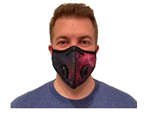 ROXX (Galaxy Purple) Outdoor Cycling Mesh Mask with Changeable Filter, Unisex Anti Pollen Allergens PM2.5 Filters Dust Includes Filter