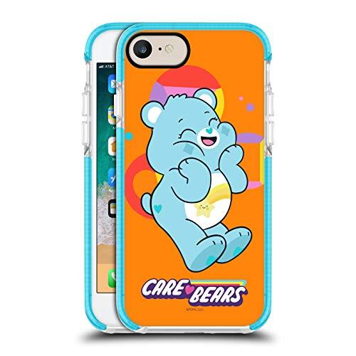 Head Case Designs Offizielle Care Bears Wish Darsteller Blaue Bumper Antischock Gel Huelle kompatibel mit Apple iPhone 7 / iPhone 8 / iPhone SE 2020