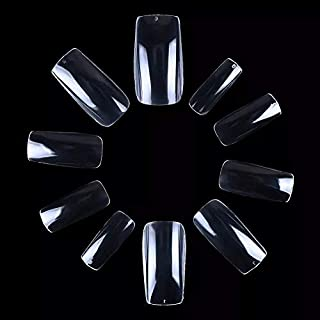 20 PC/Set Natural Square Reusable Artificial Nail/Nails with Nail Glue. Nail Art