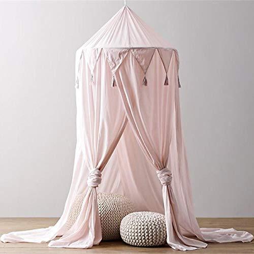 Baby Dreieck Spitze Chiffon Moskitonetz,Dyna-Living Baby Moskitonetz,Bettüberdachung fit für Babybett, Kinderbett, Twin-Size-Bett (Pink)