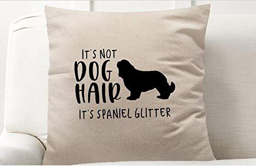 It's Not Dog Hair It's Golden Retriever Funda de almohada decorativa con purpurina, 16 x 16 pulgadas, Golden Retriever, decoración para el hogar del perro, apto para mascotas, funda de almohada decorativa 16 x 16 pulgadas, 16 x 16 pulgadas, peluche corto, Estilo-25, 18 'x 18'