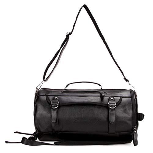 Volibear Sporttasche / Reisetasche, Leder, mit Schuh- und Nassfach, für Sportler, Trainer, Herren und Damen