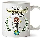 Mugffins avvocatesa Tazze Originali di caffè e Colazione da Regalare Lavoratori e Professionisti - Migliore avvocatesa del Mondo - Ceramica 350 ml