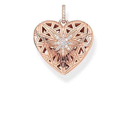 Thomas Sabo Damen-Anhänger Herz Medaillon Stern rosé 925 Sterlingsilber roségold vergoldet PE861-416-14