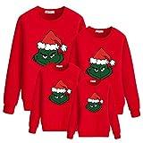 Maglione Natalizio Famiglia, Unisex Felpe Natale Famiglia 3D Stampa del Fumetto Autunno Inverno Moda Girocollo Manica Lunga Pullover Maglione per Donna Uomo Bambini Coppia (R,papà-L)