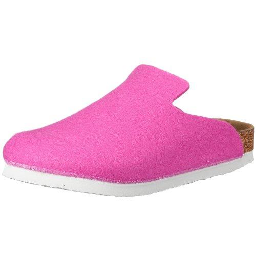Birkenstock Davos 142253, Unisex - Erwachsene Clogs & Pantoletten aus Wolle, Pink (Pink), EU 35 (schmal)
