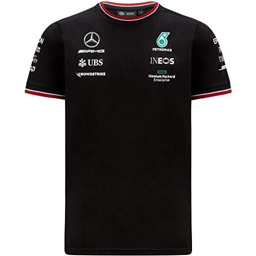 Mercedes-AMG Petronas - Offizielle Formel 1 Merchandise 2021 Kollektion - Herren - Driver Tee - Kurze Ärmel - Schwarz - XL