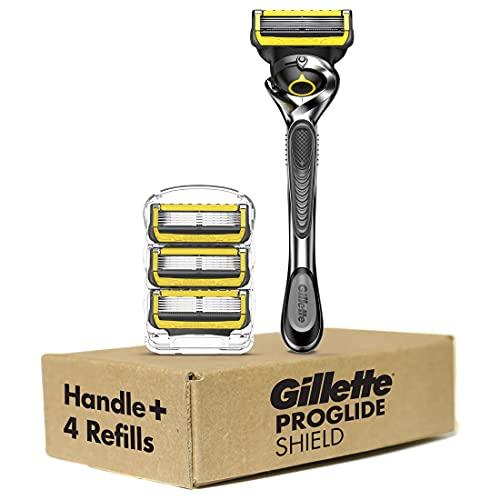Gillette ProGlide Shield Men's Razor Handle + 4 Blade Refills