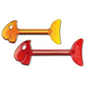 Koziol Tubenschlüssel Rollmops orange und rot