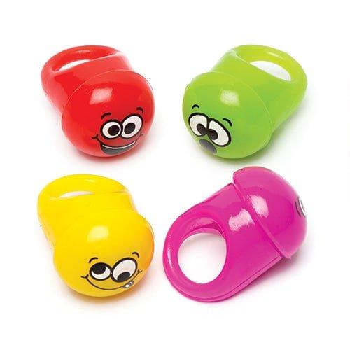 Oplichtende emoji ringen (4 stuks)