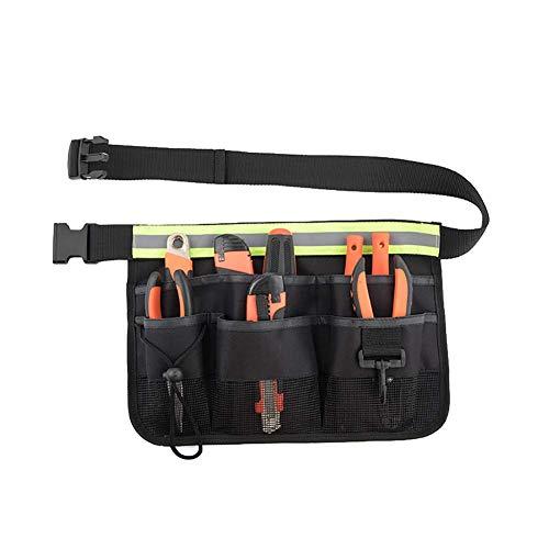 Gartenwerkzeug-Schürze, Gartenwerkzeuggürtel mit Taschen, verstellbarer Werkzeuggürtel mit 7...