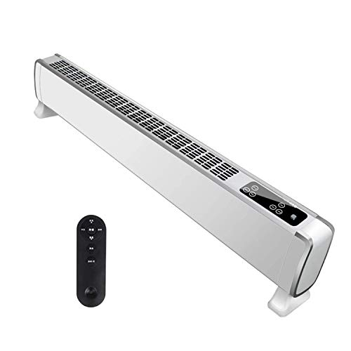 MYRCLMY Skirting Board Heating Energy-Saving Electric Heating for The Office Electric Convection Heating Bathroom Waterproof with Child Safety Function Safe And Protected,White