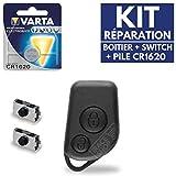 Boitier Clé Coque Plip Télécommande Peugeot 106  Switch  Pile CR1620 VARTA - Kit iRace Keys