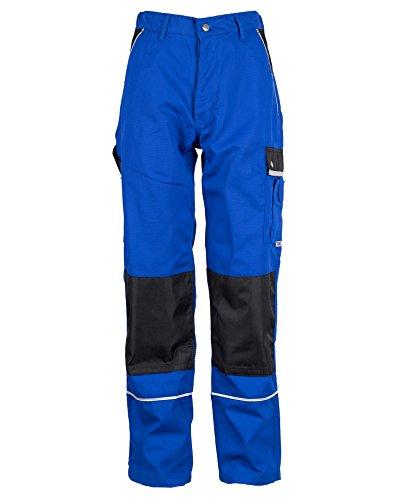 TMG® Lange Arbeitshose für Herren, Bundhose/Cargohose mit Kniepolstertaschen, Blau 48