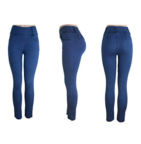 Trendcool Vaqueros Elasticos Mujer. Jeans Push Up. Pantalones Mujer Jeggins Basicos Lisos. Leggins para Mujer Invierno. Jeggins Mujer Skinny High Waist. (L, M1)
