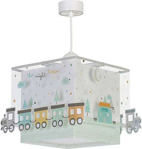Dalber Lámpara Infantil de Techo The Night Train Tren, 60 W, Multicolor