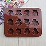 Zantec Silikon Schokolade, Süßigkeiten, Seife, Förmchen–mit Pan-Liner für Eiswürfelformen...