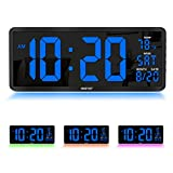 YORTOT 16 Inch Large Digital Wall Clock with 4...