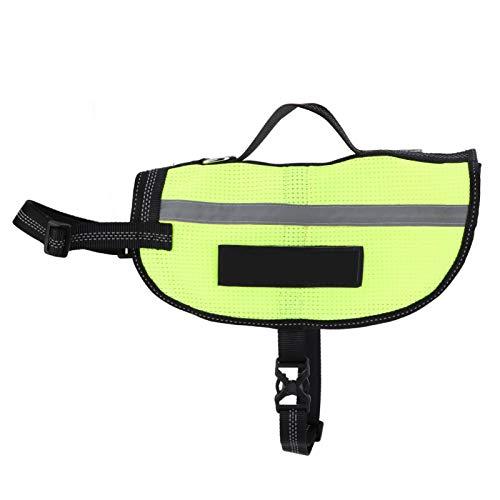 SALUTUYA Safety Traffic Adjustable Pet Fluorescent Vest Für Haustier Sicherheitshemd für Hunde(L)