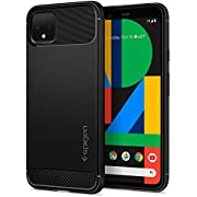 Spigen Rugged Armor Designed for Google Pixel 4 Case (2019) - Matte Black