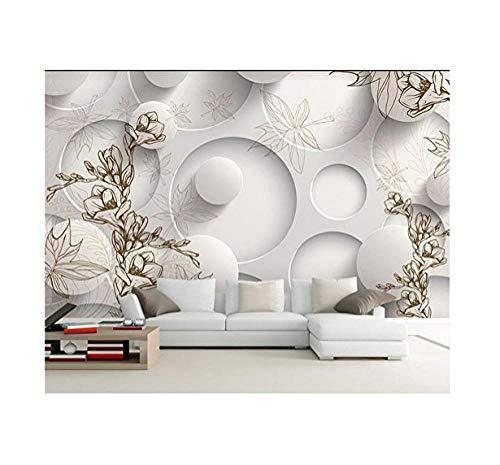 Mssdebz 3D behang eigen foto muurschildering niet-geweven Magnolia esdoorn blad tv achtergrond muurschildering woonkamer behang voor muren 3D 140 cm.