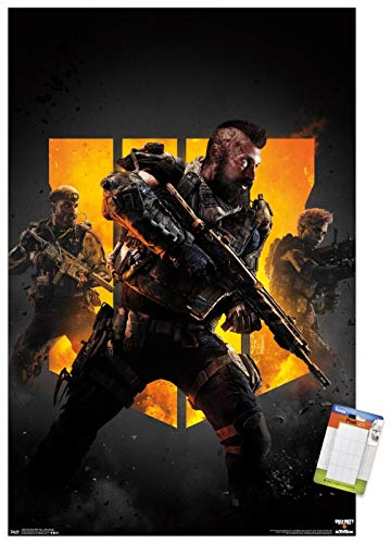 Trends International Call of Duty: Black Ops 4 - Group Key Art Wall Poster, 22.375' x 34', Poster & Mount Bundle