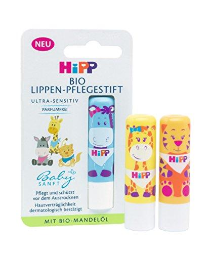 HiPP Babysanft 9666 Bio Lippenpflegestift, 4.8 g, 1er Pack (farblich sortiert/verschiedene Tiermotive)