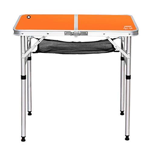 YANG WU Mesa de Camping Plegable, portátil, de Altura Ajustable, de aleación de Aluminio, Mesa de Picnic para Acampar, Utilizada para cocinar al Aire Libre, Barbacoa, Pesca en la Playa