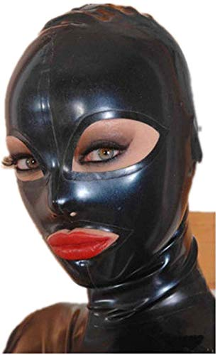 Sexy Full Face Natural Latex Hood Open Eye for Women Halloween Party Mask (S)
