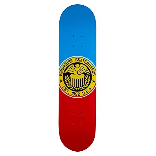 BIRDHOUSE SKATEBOARDS Skateboard-Brett / Deck, 20,3 cm, Eagle Logo, Blau / Rot