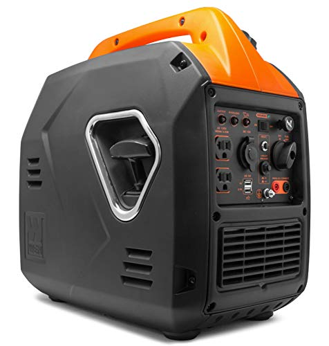 WEN 56203i Super Quiet 2000-Watt Portable Inverter Generator w/Fuel Shut Off, CARB Compliant, Ultra Lightweight 4