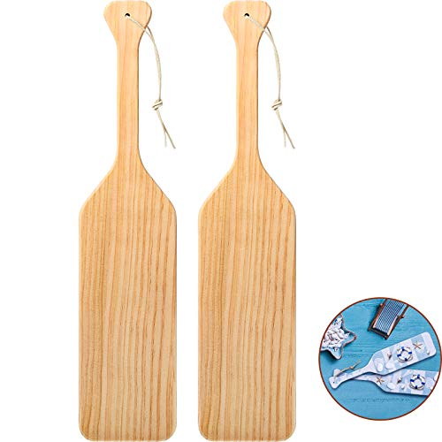 15 Inch Unfinished Wood Paddle Made of Solid Pine Wood Paddle for Arts, Crafts, Sorority, Fraternity and Home Decoration (2 Pieces)
