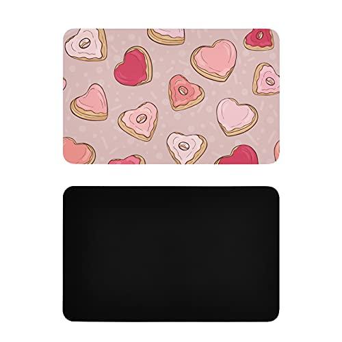 Imanes cuadrados para nevera con forma de corazón colorido para postre Donut Lavavajillas Imanes personalizados de PVC para lavavajillas Accesorios de cocina divertidos 4x2.5 pulgadas