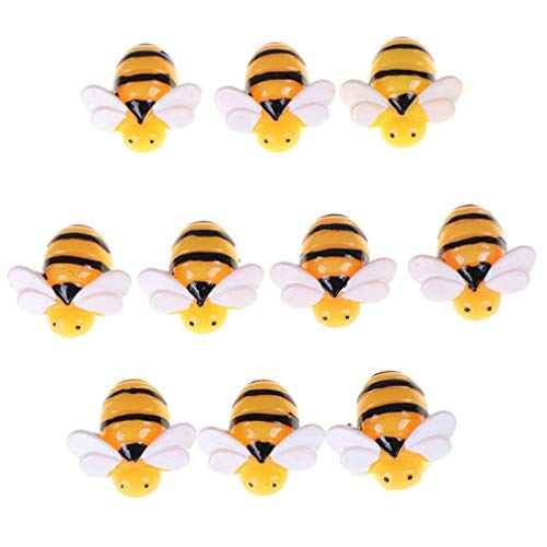OYQQ Sculptures Ornaments Figurine,10 Pcs Cute Flat Back Resin Cabochon Animal Bee Diy Flatback Scrapbooking Accessories Embellishment Craft