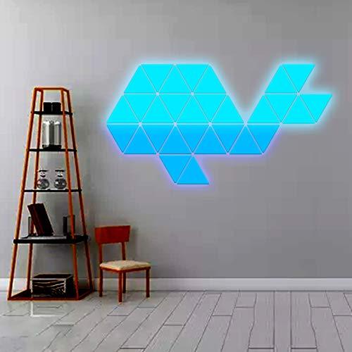 JAKROO Intelligente Lichtpaneele Spleißen Von LED RGB-Farbe Panels Rhythm, Quanten Nachtlicht Bar Gaming Lichter Spleißen, 9 pcs