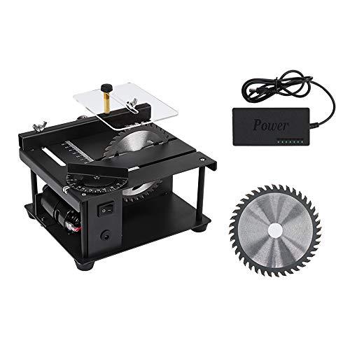 SEAAN Mini Sierra de Mesa Multifuncional, 200W hogar 0-90 ° 35mm máquina de Grabado y Pulido de Corte para Manualidades de Modelos de carpintería DIY (Set 1)