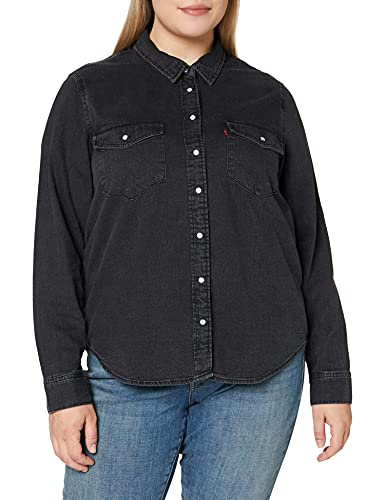 Levi's Essential Western Blusa, Negro (Black Sheen (2) 0004), X-Large para Mujer