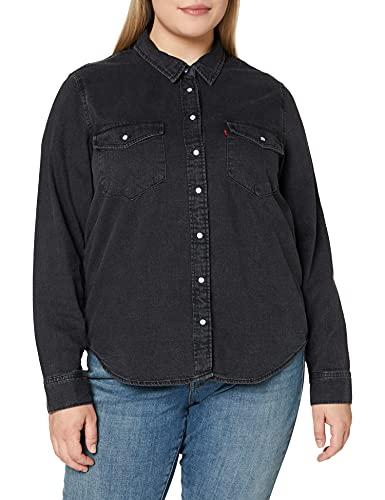 Levi's Essential Western Blusa, Black (Black Sheen (2) 0004), XL para Mujer