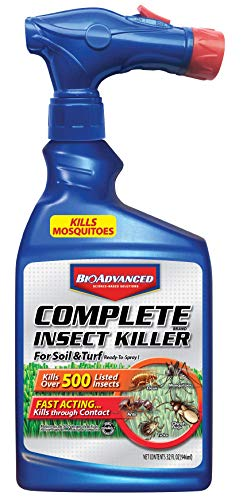 BioAdvanced 700280B Complete Insect Killer for Soil & Turf Flea and Tick Yard Protection, 32 oz, Ready-to-Spray