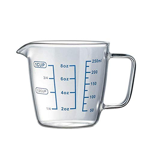 Measuring Cup Graduated Cups Transparent Scale Cups Nesting Stackable Container for Measure Liquid and Baking Items, Kitchen Lab Use with Lid