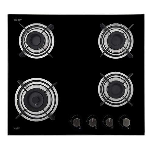 Kaff 4 Burner Glass Hob (Black, HBR 604A), 1 Piece