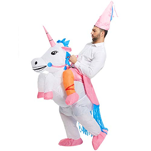 TOLOCO Inflatable Costume for Adults, Blow up Costume, Men Halloween Costume, Inflatable Unicorn Costume for Adult