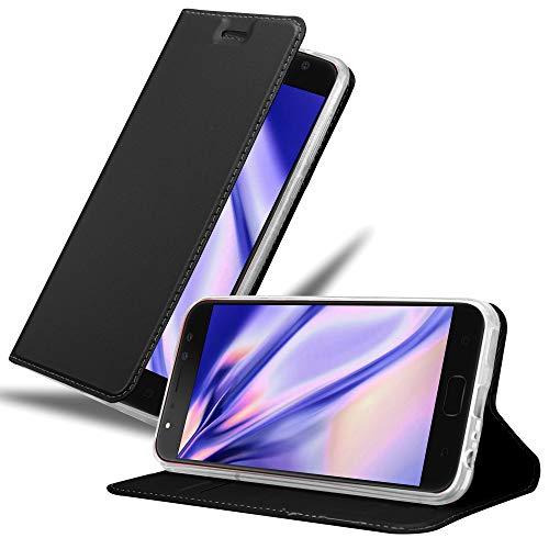 Cadorabo Hülle für Asus ZenFone 4 Selfie PRO in Classy SCHWARZ - Handyhülle mit Magnetverschluss, Standfunktion & Kartenfach - Hülle Cover Schutzhülle Etui Tasche Book Klapp Style