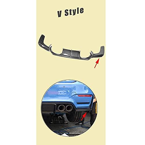YMSHD Difusor Alerón Parachoques Trasero Coche Carbono para BMW F80 M3 F82 F83 M4 14-19 Estándar Cabriolet, V