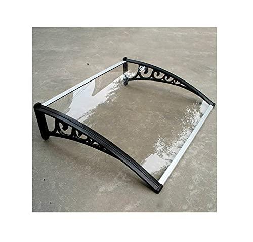 GXFWJD Toldos para Exteriores/Tejadillo Protección/Marquesina para Puertas Y Ventanas Cubierta Protección contra La Lluvia para Ventana ProtecciónSoporte En PP (Color : Clear, Size : 120x80cm)
